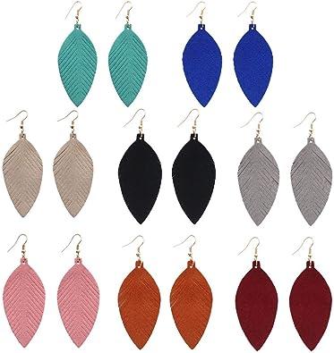 Genuine Leather Cowgirl Earrings Fringe Earrings Boho Earrings Mamarozance Lightweight Earrings Gifts for her Leather Earrings