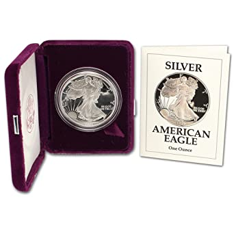 1991 S American Silver Eagle Proof 1 OGP US Mint At Amazons