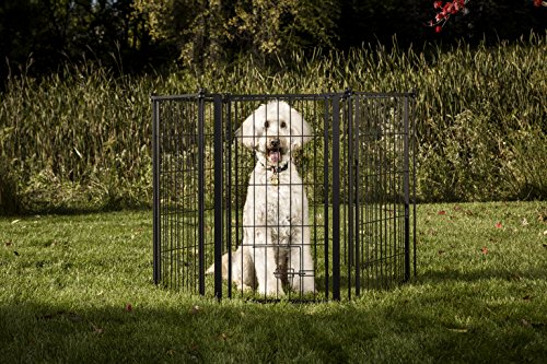 Carlson Pet 2-in-1 Configurable Weather-Resistant Outdoor 144-Inch Super Pet Gate and Pen (Patio Dog Door Super Large)