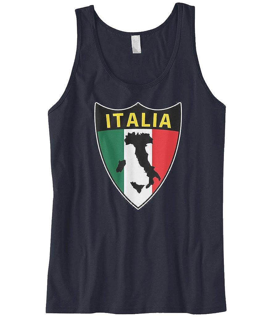 Cybertela Mens Italian Italy Italia Shield Flag Tank Top