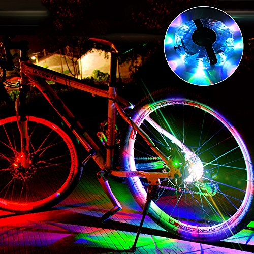 Alritz Rechargeable Bike Wheel Hub Lights, Waterproof 3 Modes LED Cycling Lights, RGB Colorful Bicycle Spoke Lights for Safety Warning and Decoration (Wheel Light for 1 Wheel) by Alritz (Image #6)