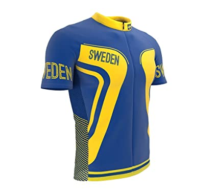ScudoPro Sweden Full Zipper Bike Short Sleeve Cycling Jersey for Men - Size  XS 0e73a1761