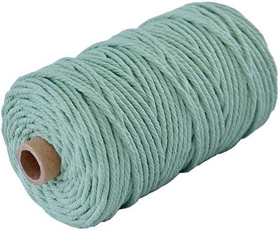 CAOLATOR. Cordón de algodón Macrame 100mx3mm Cuerda de Hilo DIY Decoración de Pared Colgante Cordones de Algodón Encerado para Plantas Percha Cuerdas artesanales Tejido de Cuerda: Amazon.es: Hogar