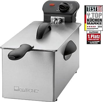 Clatronic Fr3586 Deep Fryer Stainless Steel Amazon Co Uk Kitchen