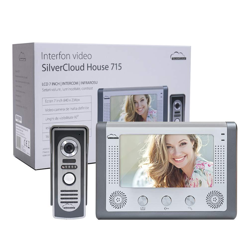 Video T/ürsprechanlage SilverCloud House 715 7 LCD Bildschirm Gegensprechanlage