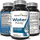 Natural Water Pills - Reduce Excess Water - Weight Loss Appetite Suppressant Benefits - Vitamin B6 Pyridoxine Hydrochloride - Dandelion Root + Pure Green Tea Diuretic for Women & Men - By Nature Bound