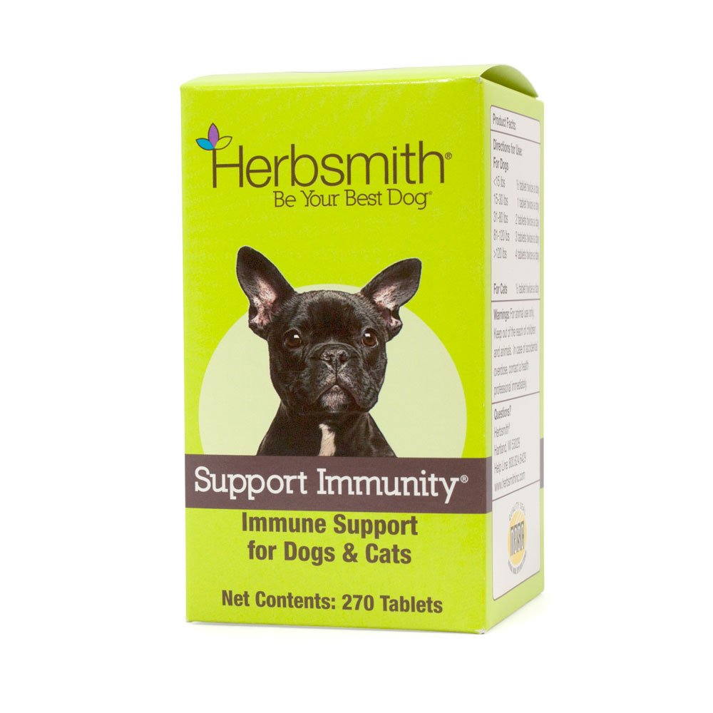 Herbsmith Support Immunity - Canine and Feline Immune Support - Helps Maintain Respiratory Health for Dogs and Cats - Natural Immune System Support - 270 Tablets by Herbsmith