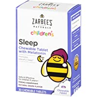 Zarbee's Naturals Children's Sleep with Melatonin Supplement, Natural Grape Flavor...