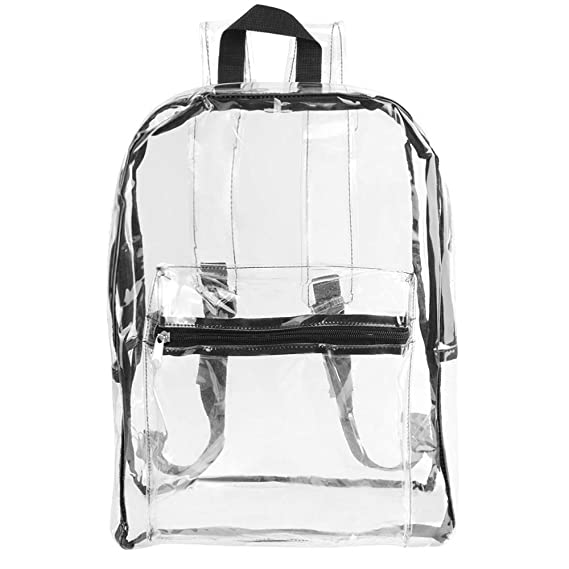 Amazon.com | VanGoddy Inspection Ready Checkpoint Friendly Multi-Purpose Clear Carryall Backpack Bag | Kids Backpacks