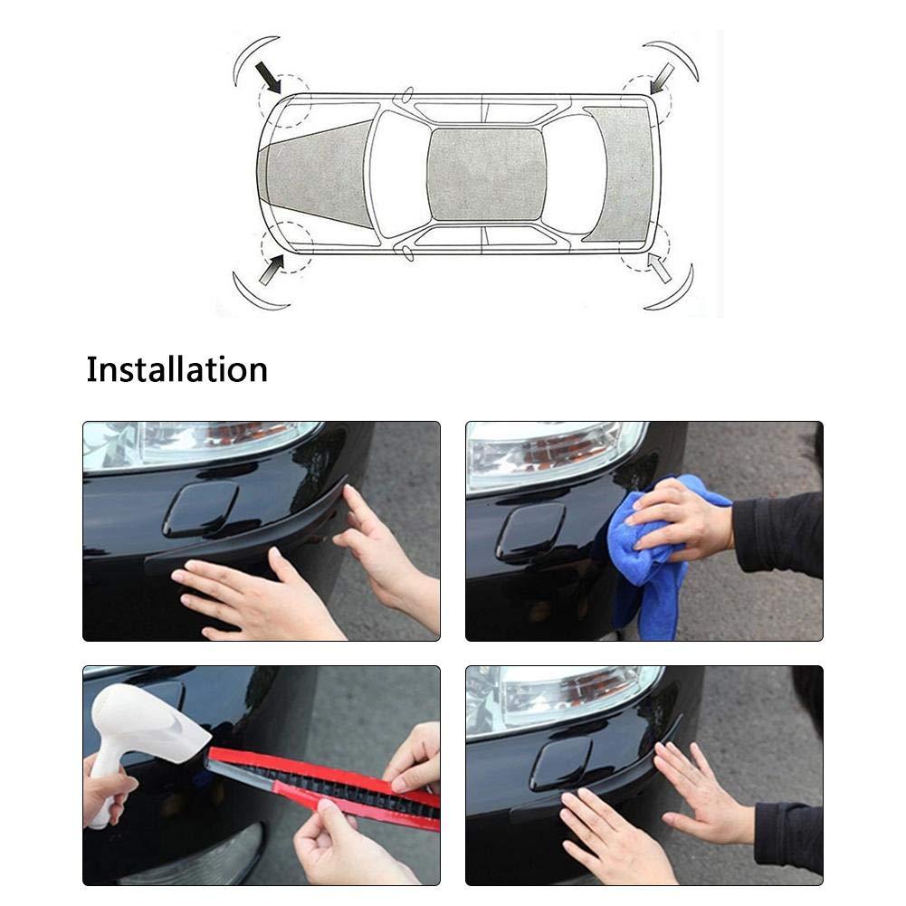 2Pcs Protector de Parachoques Delantero y Trasero de Fibra de Carbono Pegatina de Tira anticolisi/ón para la mayor/ía de los autom/óviles VGEBY1 2Pcs Protector de Parachoques para autom/óvil