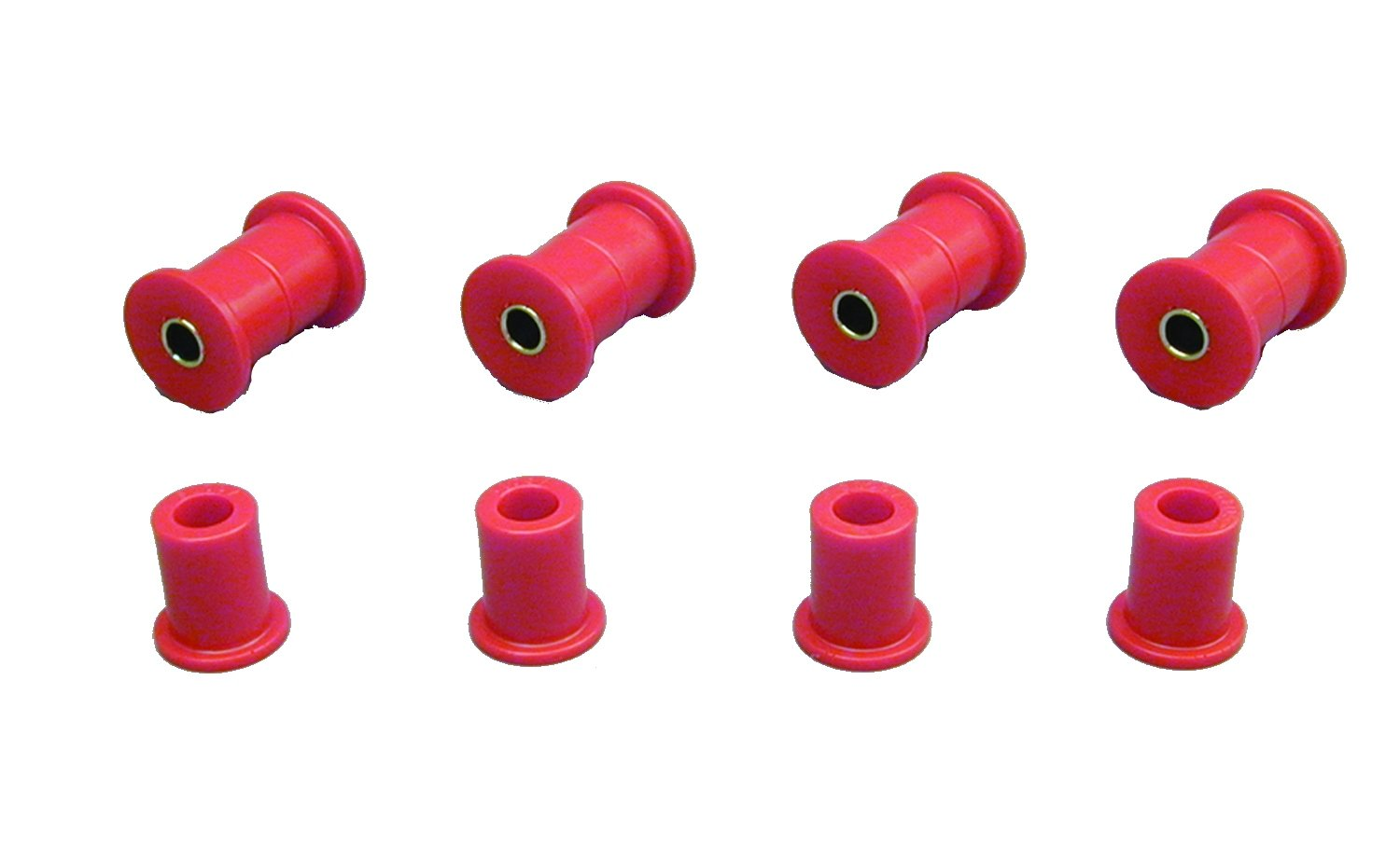 Prothane 18-1006 Red Rear Spring Eye and Shackle Bushing Kit