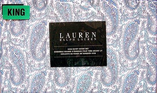 Ralph Lauren Blue Paisley King Duvet / Comforter Cover (Ralph Lauren Comforter Cover)