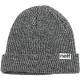 Neff Fold Heather Men's Beanie Casual Hat - Black/White / One Size