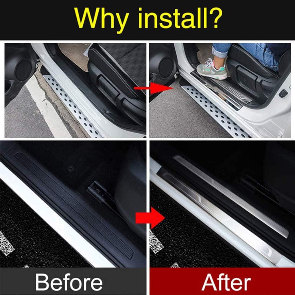 per for-d Focus MK2 2005-2011 WNMASS 4pcs Auto Battitacco Acciaio Inossidabile Soglia Porta Kick Plates Door Sill