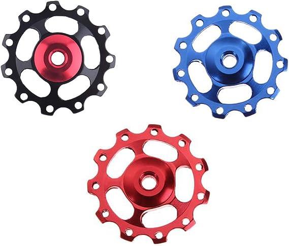 rueda de gu/ía de 11 dientes polea de desviador de MTB polea de rueda de jockey de bicicleta herramienta de bicicleta y equipo desviador polea de aleaci/ón de aluminio para bicicleta de monta/ña accesorios cjixnji Polea de desviador