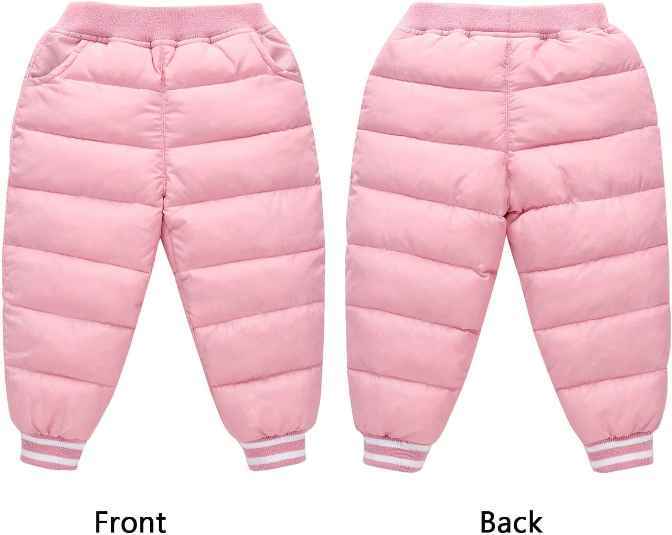 Happy Cherry Baby Boys Girls Windproof Down Pants Lightweight Warm Snow Pants Long Down Trousers Winter Pants Compact Pants Skiing Pants Blue(9-10 months)