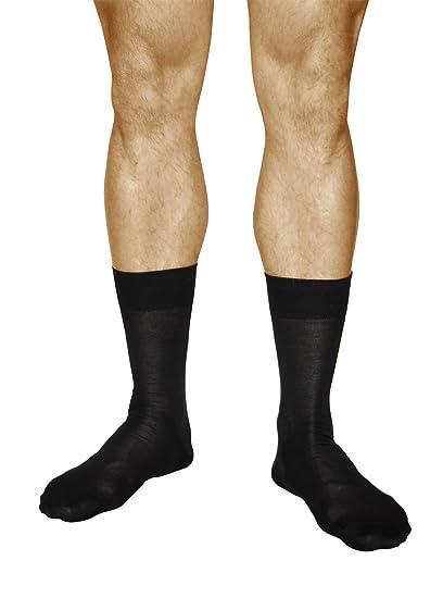 vitsocks Calcetines Hombres ALGODÓN 100% Finos y Respirables (3 PARES) Clásicos Diários, negro, 44-46: Amazon.es: Ropa y accesorios