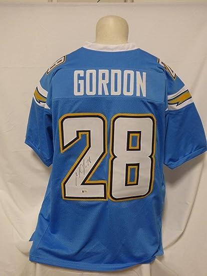 buy popular 1e016 0d82d Autographed Melvin Gordon Jersey - Custom Powder Blue ...