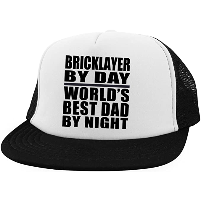 2342ee79ec9fc Designsify Dad Hat Bricklayer by Day World s Best Dad by Night - Trucker Hat   Amazon.ca  Clothing   Accessories