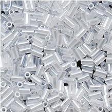 Toho Bugle Tube Beads Size #1 / 2x3mm Ceylon Snowflake 8 Grams