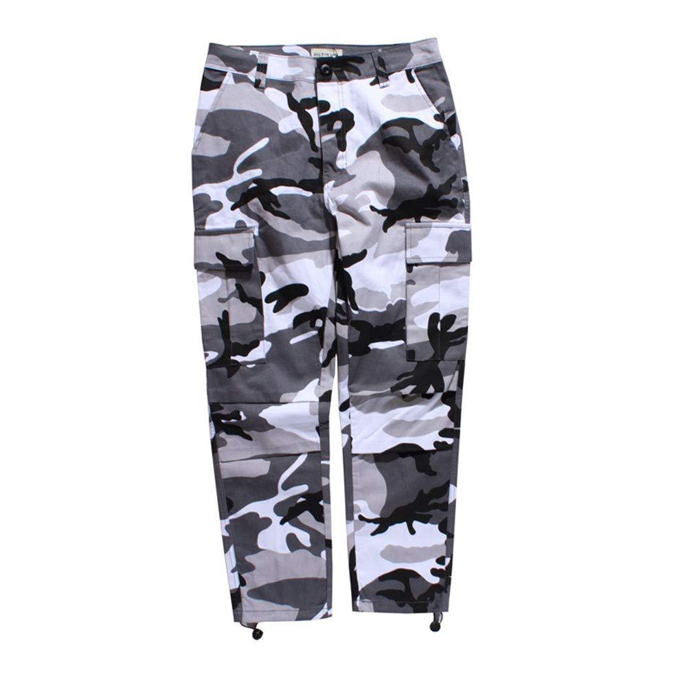 cd1d3849eb4d6 Amazon.com: Mens Camouflage Pants Multicolor Cargo Joggers Side Pockets  Streetwear Hip-hop Cargo Pant: Clothing