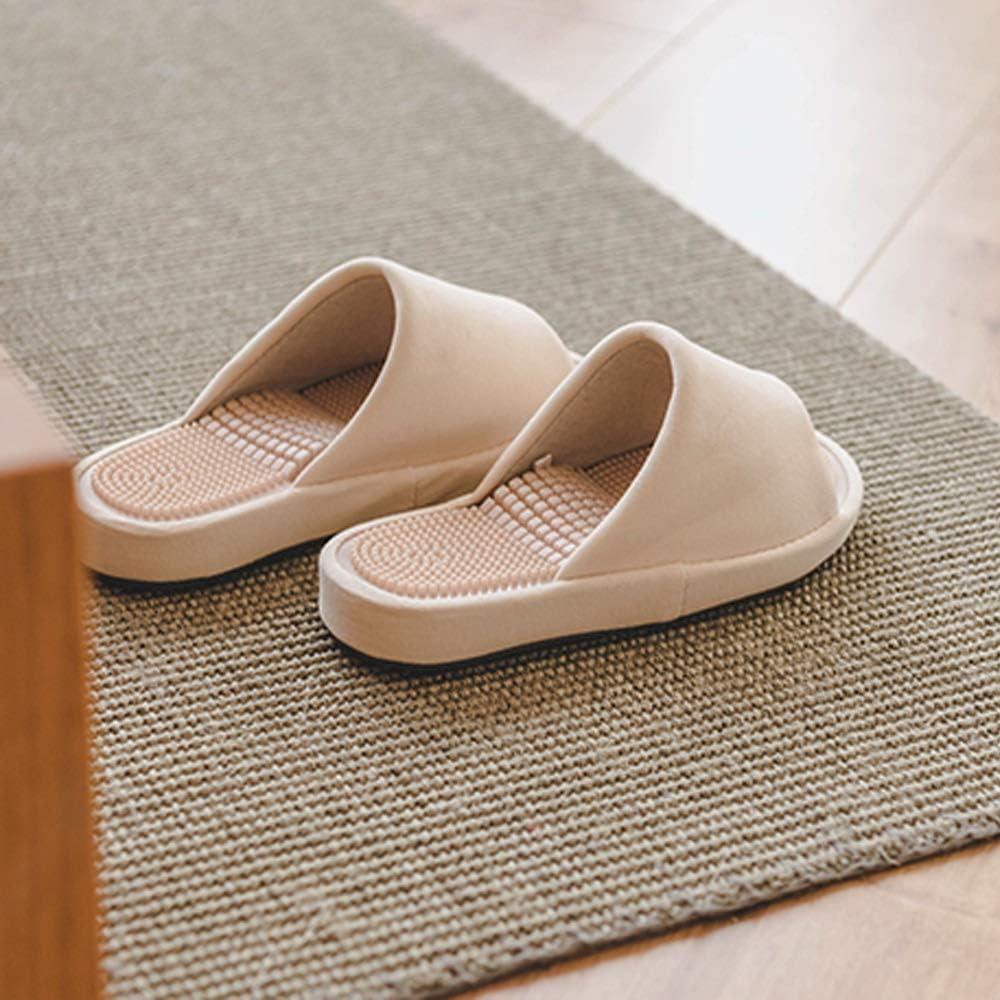 Color : Gray, Tama/ño : 245mm Xiao Jian Masaje Punto de acupuntura pedicura Sandalias de Fondo Duro y Zapatillas Mujer hogar Interior Piso Grueso Inferior Antideslizante par Masculino Zapatillas