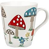 Cath Kidston 1-Piece Mushroom Stanley Shaped Fine China Mug, White