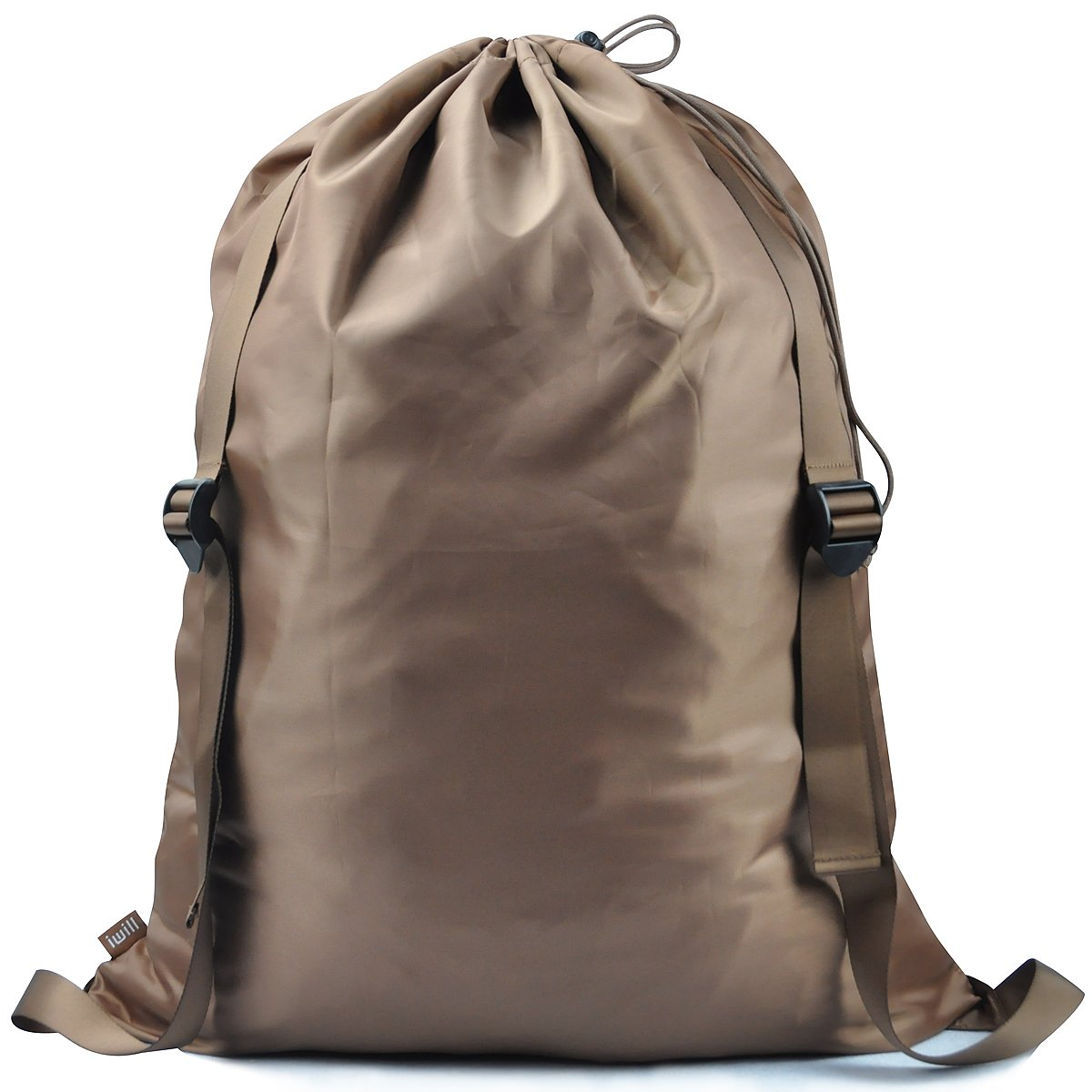 """iwill CREATE PRO 『25""""X31""""』 Laundry Backpack, 2 Strong Shoulder Straps, Wash Laundry Washing Bag for Dorm-Room, Laundry Bag, Brown"""