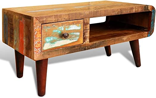 Festnight Antique-Style Coffee Table