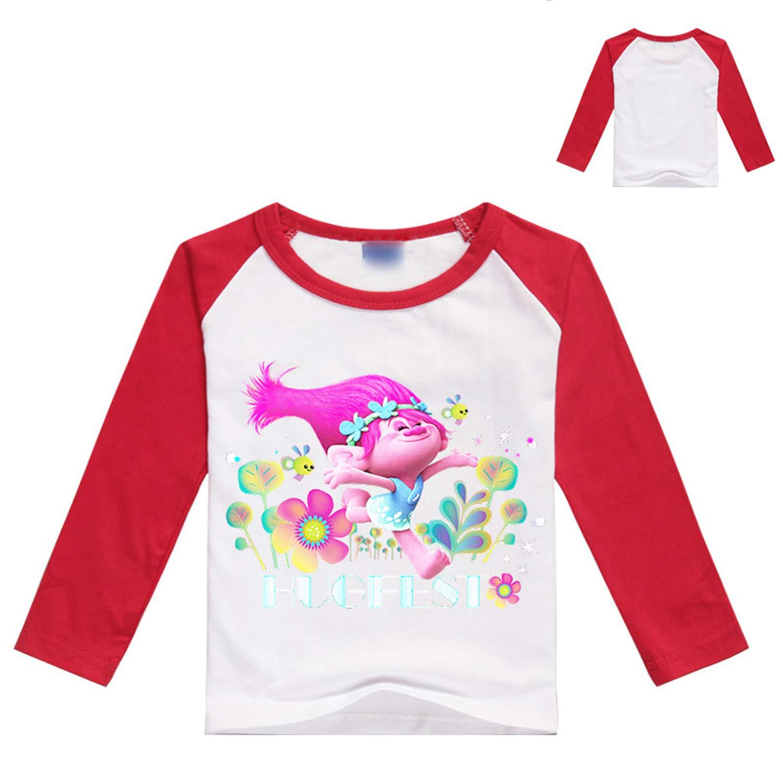 PCLOUD Toddler Girls Trolls Purified Cotton T-Shirt