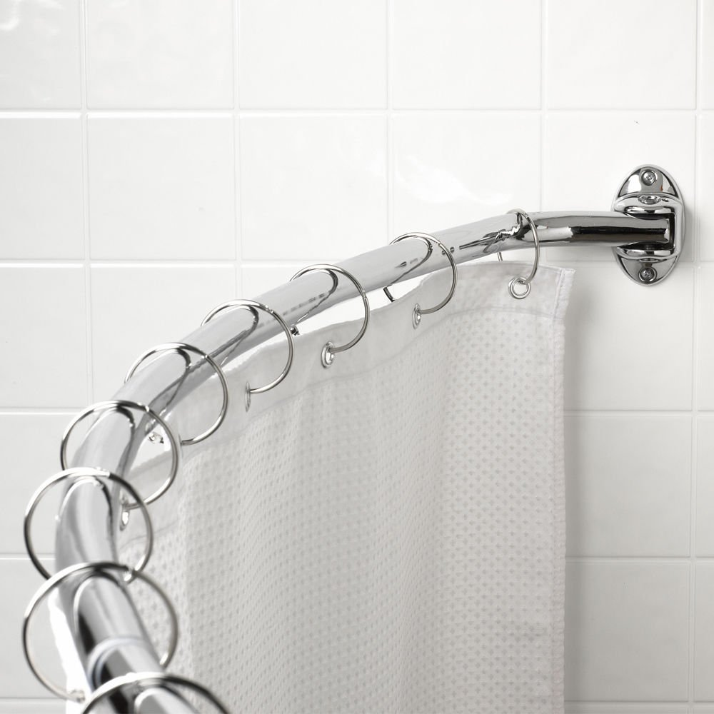 Curved Shower Rod, Fits 60-72 Openings. Finish: Polished Chrome. Packed in new Retail Box. Hardware Resources