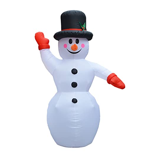 a-nam gigante 6 ft/7,9 inflable muñeco de nieve hinchable de ...