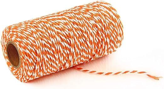 Ainstsk - Cuerda de algodón de 100 m para Regalo, Cuerda Bicolor ...