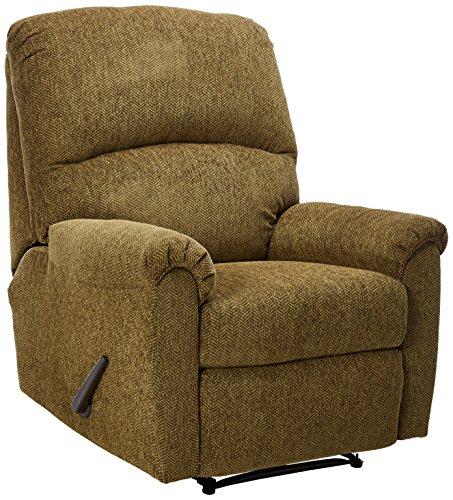 (Ashley Furniture Signature Design - Pranit Recliner - Manual Reclining Chair - Walnut Brown)