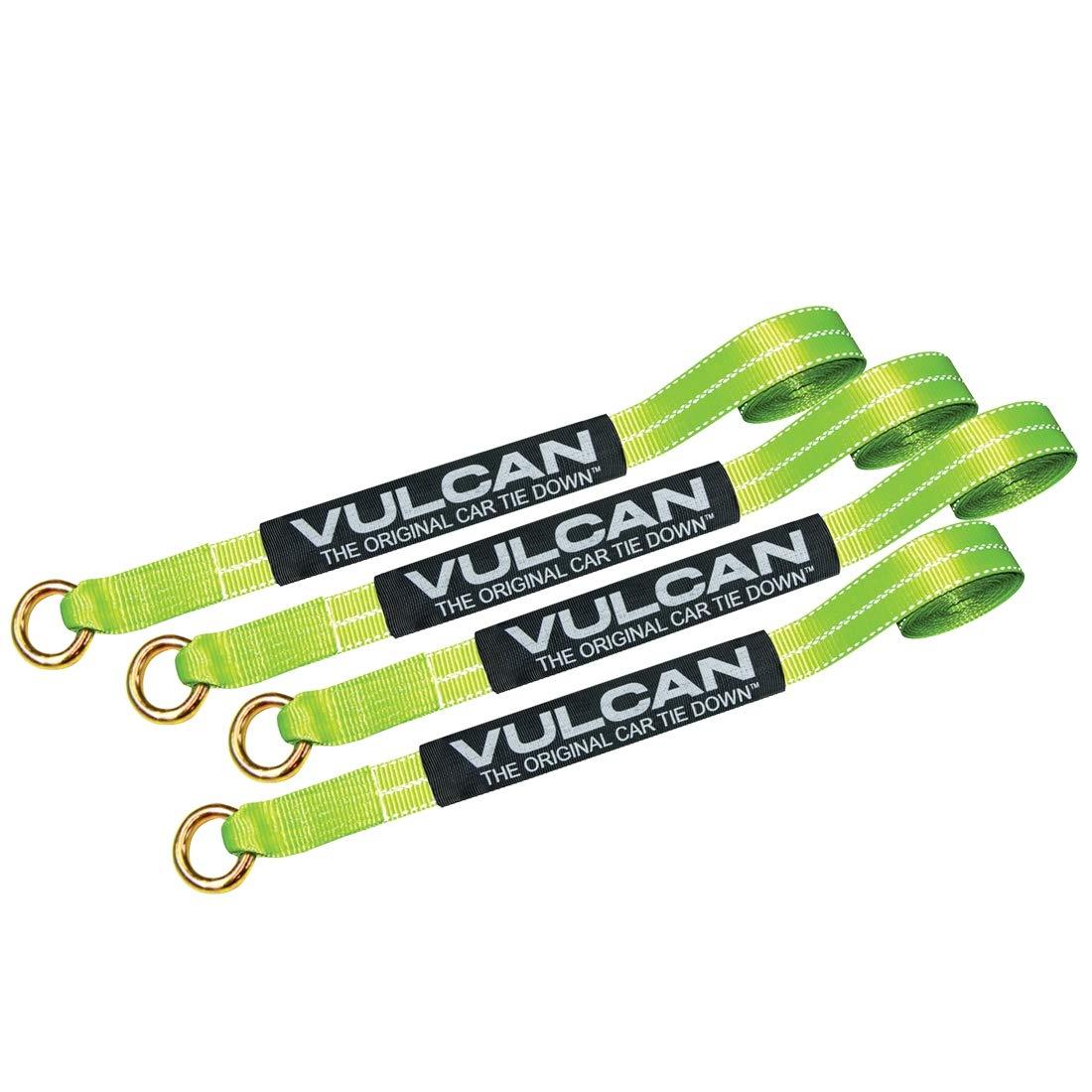 Vulcan Exotic Loop Style Auto Tie Down System (Hi Viz Lime Green)