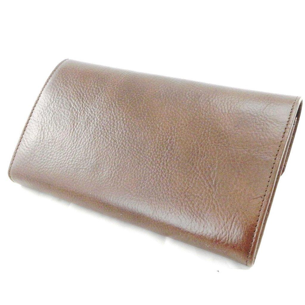 Wallet + checkbook holder leather ''Frandi'' brown - ecological york. by Les Tresors De Lily (Image #3)