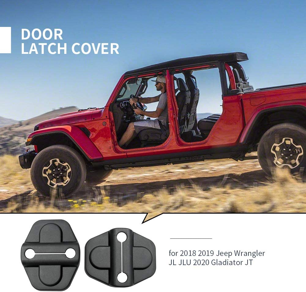 Door Lock Cover Buckle Decor Trim for Jeep Wrangler JL JLU 2018 2019 Gladiator JT 2020 6Pcs
