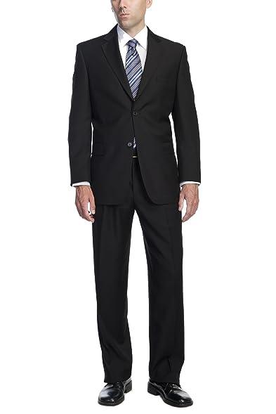 Pl Mens Two Button 2 Piece Classic Fit Office Dress Suit Jacket