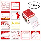 Arts & Crafts : UNOMOR 80 Count Christmas Gift Tag Stickers Red, Silver, and Gold Designs, Christmas Labels on Gift Present
