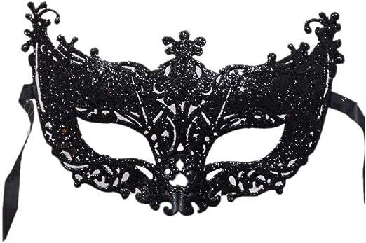 iuNWjvDU - Máscara Veneciana para Disfraz, Color Negro: Amazon.es ...