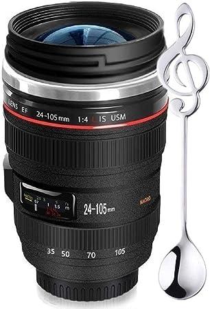 Amazon.com: Taza de café con lente de cámara, viene con una ...
