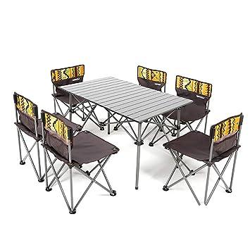 QJJML Table De Pique-Nique Pliante Et Chaises, Table Pliante ...