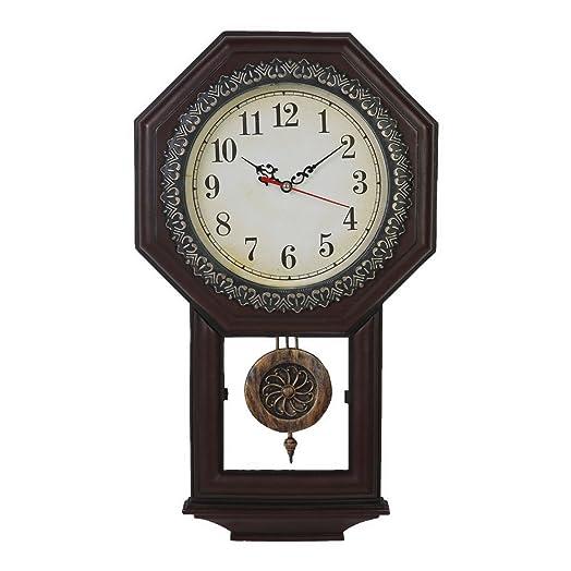 Giftgarden Vintage Wall Clock Quartz Movement Pendulum Clocks