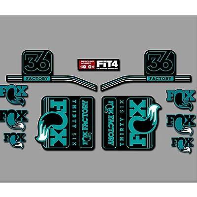 Ecoshirt HF-XTEK-X7FG Stickers Fork Fox 36 R287 Stickers Aufkleber Decals Autocollants Desivi, Turquoise: Automotive [5Bkhe0703651]