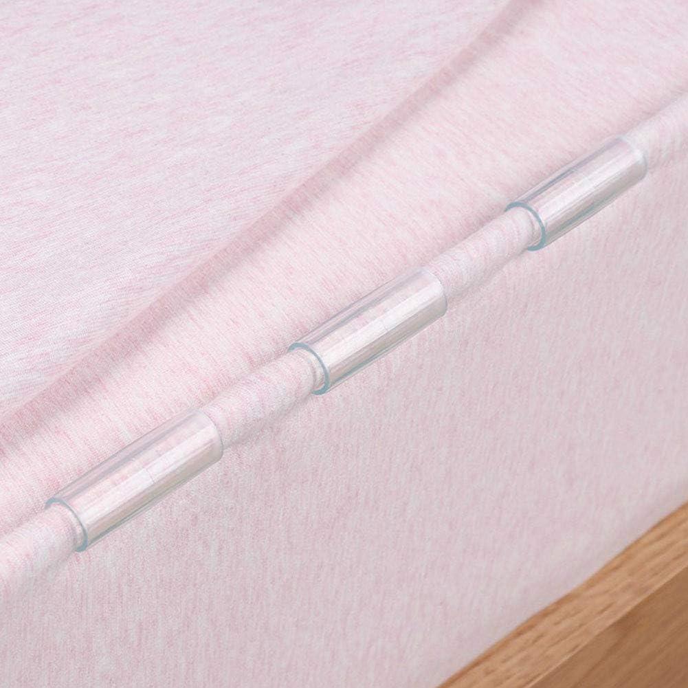 Non null Taglia libera fibbia fissa copri-materasso supporto elastico multifunzione per sigillare cibo antiscivolo clip per lenzuola Arancione trasparente. VerneAnn 12 pezzi trasparente
