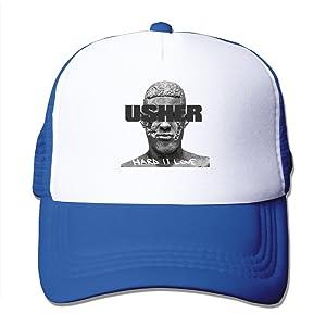 Adult Usher Hard II Love Adjustable Mesh Hat Trucker Baseball Cap RoyalBlue