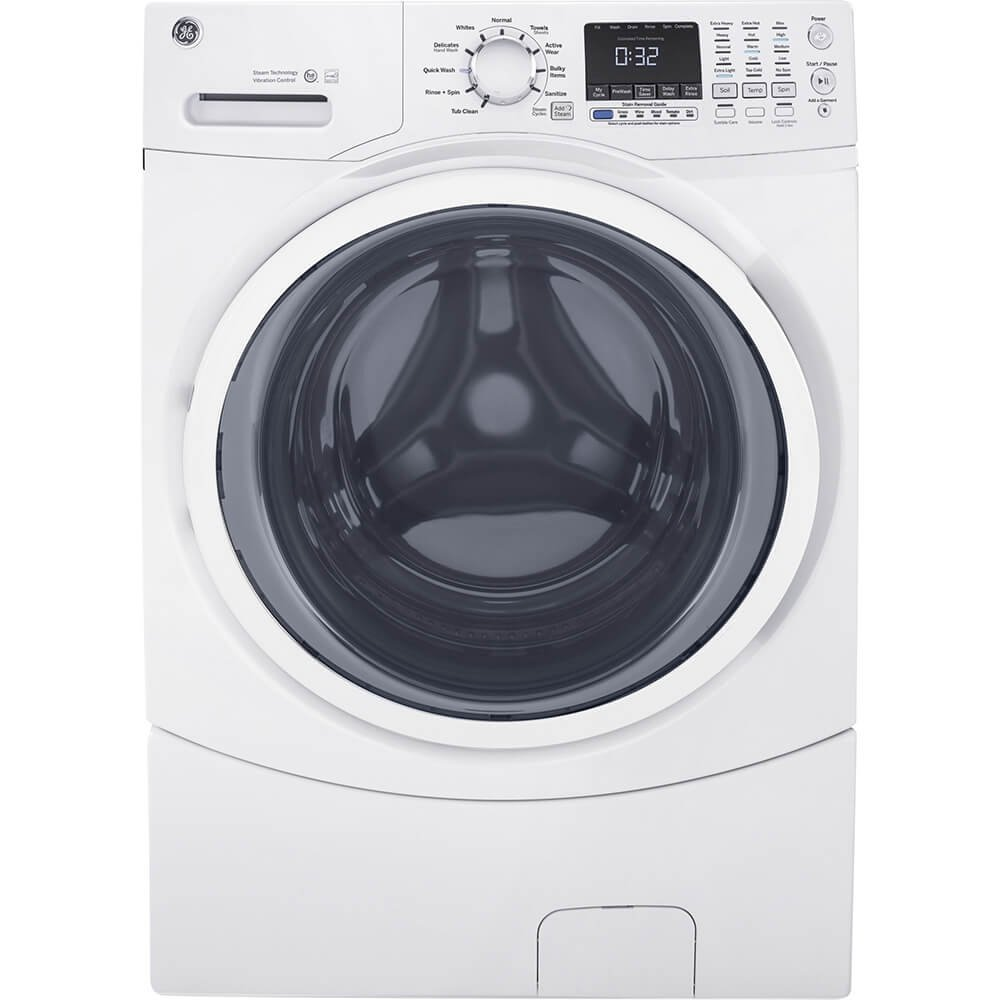 GE  GFW450SSMWW White 4.5 Cu. Ft. Front Load Steam Washer