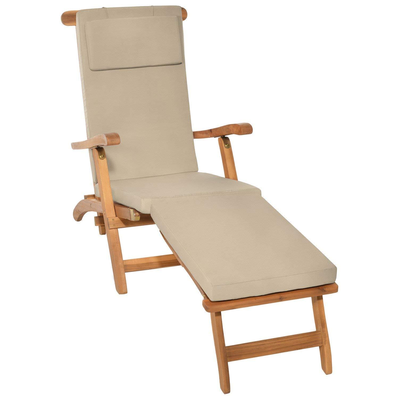 ordina ora con grande sconto e consegna gratuita Beautissu Cuscino per Sedia a Sdraio LoftLux DC 175x45x5cm - - - Cuscino sfoderabile per sedie e poltrone da Giardino - Avorio  servizio onesto