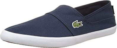Lacoste Mens Marice Black Slip on Canvas Trainers Shoes 7-33cam1071024 RRP £48