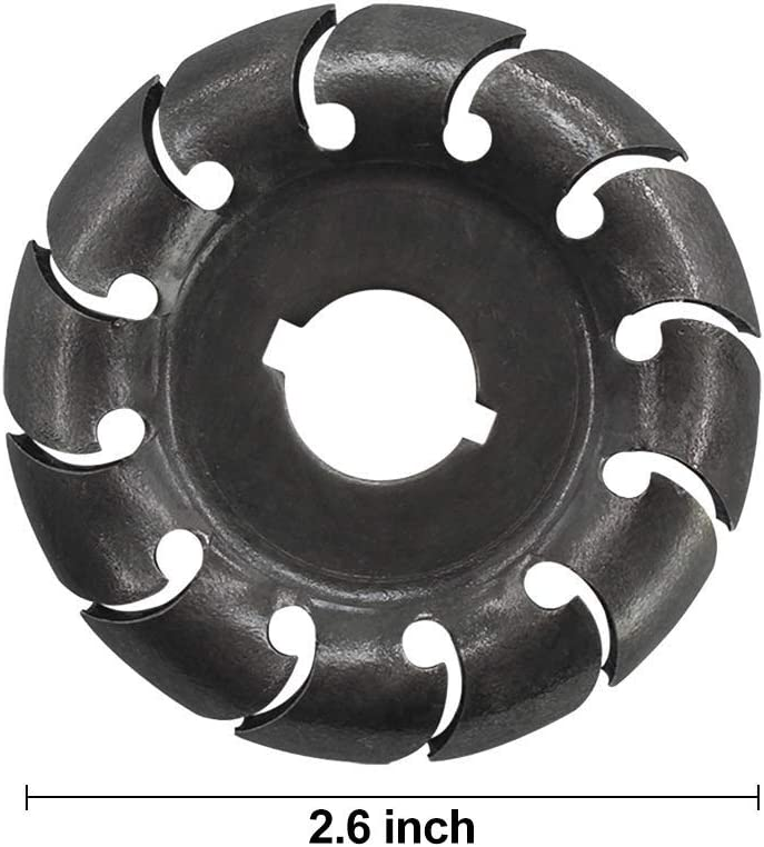 Black 12 Teeth Wood Carving Disc 65mm Wood Shaping Disc 16mm Bore Extreme Shaping Disc Grinding Wheel Disc for 100//115 Angle Grinder Woodworking Tool